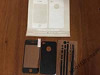 Защитная  пленка для iPhone 4/4S под кожу и карбон