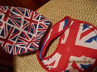 Британский флаг слюнявчик косынка детская лот=2вещ
