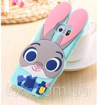 Силиконовый чехол Кролик Джудди для Samsung Galaxy S6