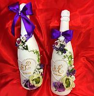 Свадебное украшение шампанского(1 шт)