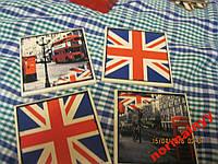 британский флаг БРИТАНИЯ ЛОНДОН ПОДСТАВКИ ПОД ГОРЯЧЕЕ ФЛАГ НАБОР=4