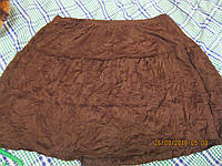 Короткая юбка жатка коричневая 20 54 XL  сток