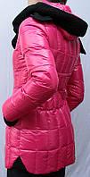 Пуховик женский молодежный Snow Owl с шарфом