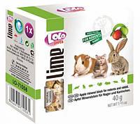 LoLo Pets lime for RODENTS  Минеральный камень с ЯБЛОКОМ для грызунов и кроликов