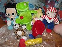 игрушка мягкая б у Набор =7 игрушек отличное состояние бегемот кит пупс тигр мики маус