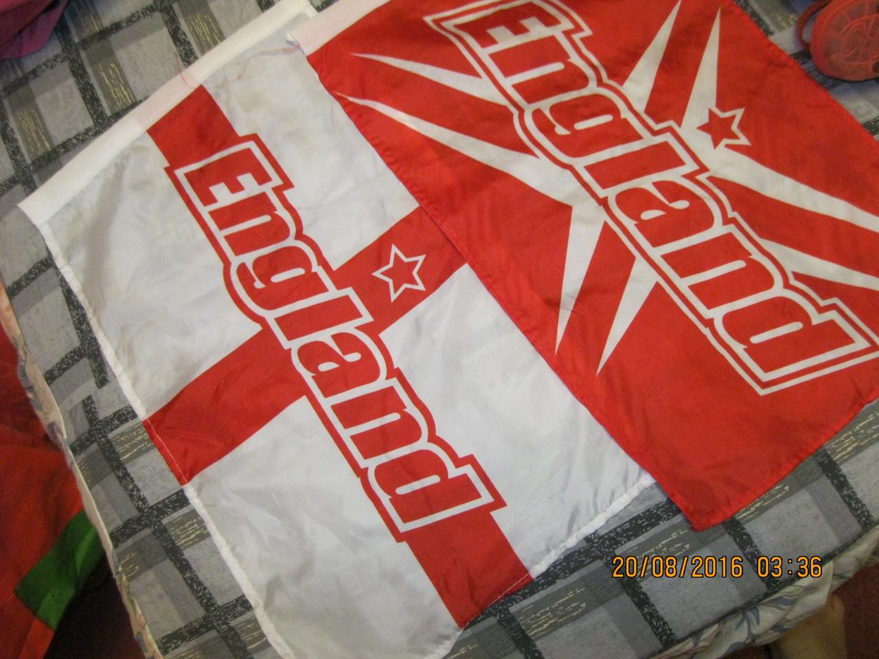 Лот=2 флага БРИТАНИЯ 28 НА 45 СМ ENGLAND флаг