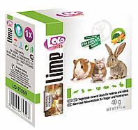 LoLo Pets Lime Минеральный камень для грызунов - овощи