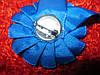 Синяя БРОШЬ БРОШКА значок медаль атлас, фото 2