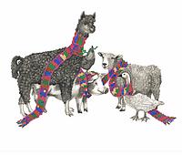 Схема для вышивки бисером  Верные друзья, размер 35х28 см