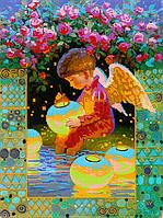 Схема для вышивки бисером Мальчик-Ангел, размер 30х40 см