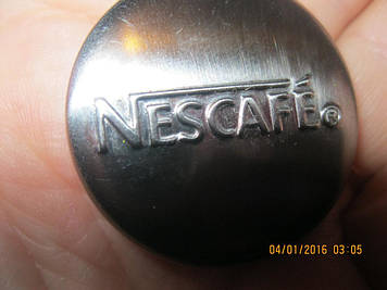 NESCAFE кофе магнит сувенир металл ИЗ БРИТАНИИ коллекционеру