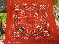 Красный платок косынка сувенир из США NEW YORK