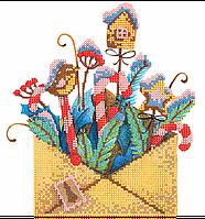 Схема для вышивки бисером Сладкое письмо, размер 21х21 см