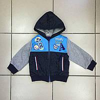 Детская Куртка батник с капюшоном для мальчиков оптом р.2-5 лет
