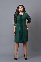 Платье мод №505-2, размер 54 темно-зеленое