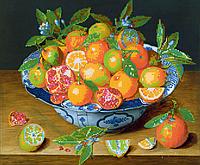 Схема для вышивки бисером Спелые апельсины, размер 36х30 см