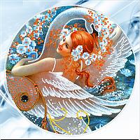 Схема для вышивки бисером Танец с лебедем, размер 21х20 см