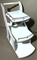 Стол сервировочный 2 белый  с патиной