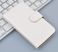 Кожаный чехол-книжка для  Lenovo S8/S898T белый