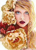 Схема для вышивки бисером Теплая осень, размер 25х35 см
