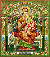 Схема для вышивки бисером Богородица Всецарица, размер 19х22 см