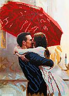 Схема для вышивки бисером Любовь под дождем, размер 25х35 см