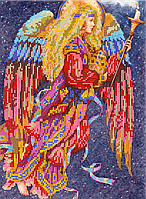 Схема для вышивки бисером Ангел-хранитель, размер 21х30 см