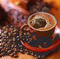 Схема для вышивки бисером Кофе, размер 25х25 см