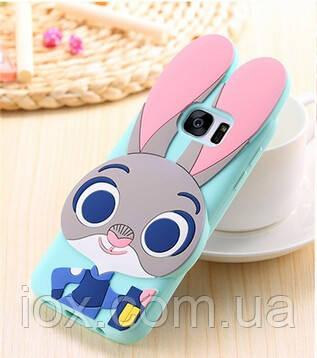Силиконовый чехол Кролик Джудди для Samsung Galaxy S7 edge