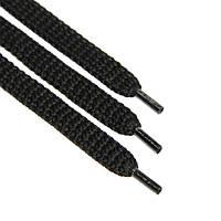 Шнурок 12 мм плоский черный 120 см