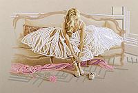 Схема для вышивки бисером Нежность, размер 25х17 см