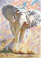 Схема для вышивки бисером Слон, размер 25х36 см