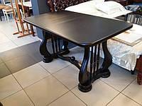 Стол из дерева для гостиной Лира 140(+50)х85х75 (венге)