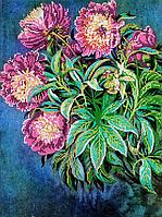 Схема для вышивки бисером Садовые цветы, размер 30х40 см