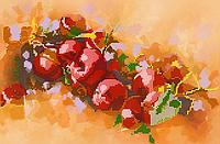 Схема для вышивки бисером Яблоки, размер 35х23 см