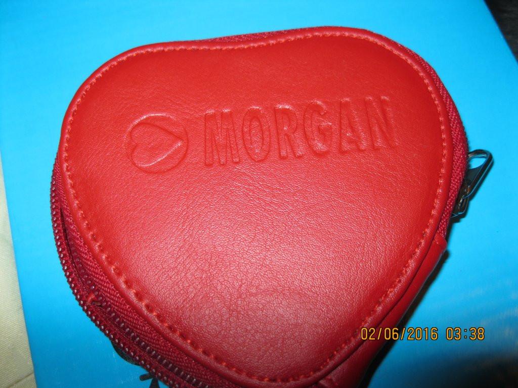 MORGAN красный кошелек органайзер сердце на молнии