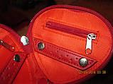 MORGAN красный кошелек органайзер сердце на молнии, фото 2