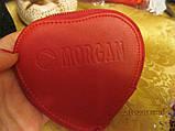 MORGAN красный кошелек органайзер сердце на молнии, фото 5