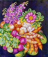 Схема для вышивки бисером Овощной букет, размер 30х36 см