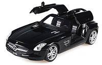 Машинка на радиоуправлении 1:24 Meizhi лиценз. Mercedes-Benz SLS AMG металлическая (черный)