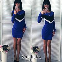 """Женское стильное платье """"Треугольник"""" (4 цвета) , фото 1"""