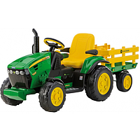 Трактор Peg Perego JOHN DEER Ground Force c прицепом OR 0047