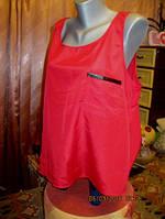 Блузка красная как новая блуза майка фирменная XL