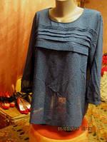 Женская шифон блуза блуза кофта голубая 18-20 52-54 XL фирма F&F