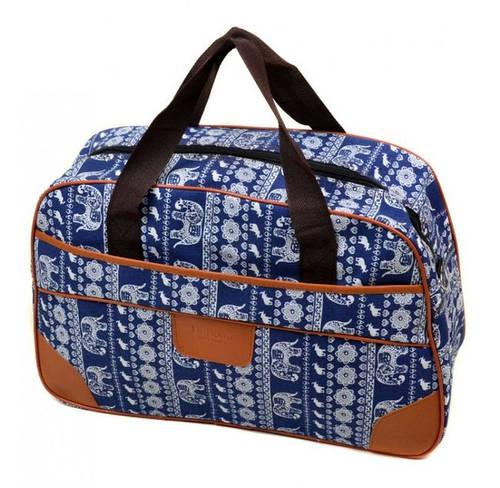 Вместительная сумка в принт для поездок 24L, полиэстер dr.Bond 6601-1 blue-3 голубой