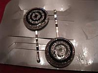 Зажимы шпильки ЕВРОПА невидимка металл заколка набор=2шт цвет под СЕРЕБРО