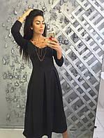 Платье женское из дайвинга миди