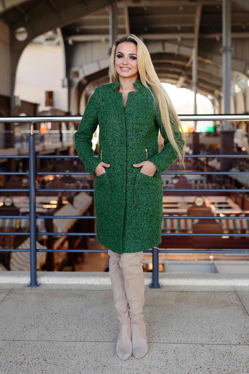 44ea72adf4b Женское зеленый осеннее пальто арт. Рейн букле - Модный мир в Житомире
