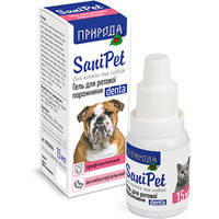 Гель для гигиены и здоровья ротовой полости собак и котов Природа Санипет 15 мл