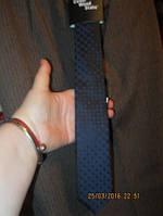 Мужской новый галстук фирменный узкий и прищепка